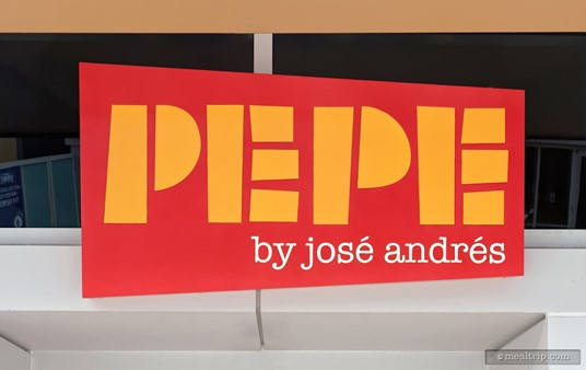 The exterior sign at Pepe by Jose Andres at Disney Springs.