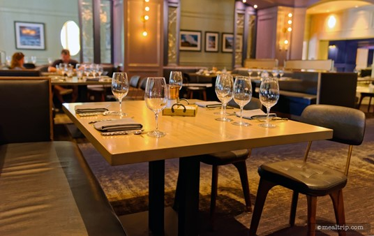 A new table is set and ready to go at Ale and Compass.