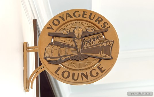 Just behind Le Petit Café, there's a neat little open seating area that has been named Voyageurs Lounge. A great place to bring a morning beverage & pastry or a cocktail later in the day.