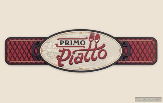 The main Primo Piatto sign.