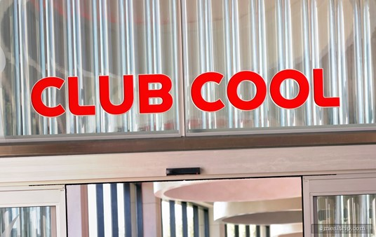 """The new Club Cool logo sign in Epcot uses colors that are more inline with US-based Coke branding, and not so much of the """"future pop"""" look that the previous logo sign had."""