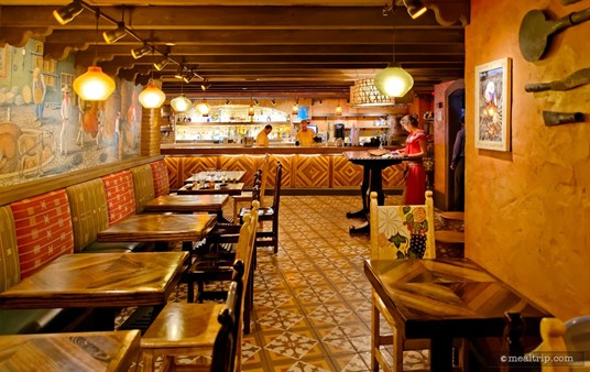 From the end of La Cava's seating area looking toward the main counter.