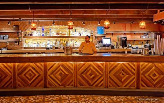 The main counter area at Epcot's La Cava del Tequila.