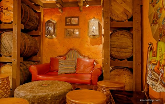 """The """"red chair nook"""" area."""