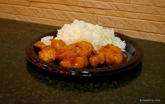 Orange Chicken with Steamed Rice