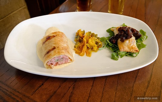 House-made English Meat Pies from the Appetizer menu at the Rose & Crown.