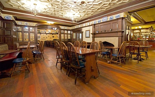 While not being very large, the Rose & Crown indoor dining area is quaint. There is also outdoor seating available.