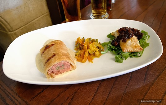 House-made English Meat Pies from the Rose & Crown Appetizer menu.