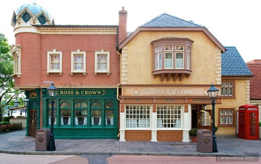 The Rose & Crown Dining Room is on the right, and the Rose & Crown Pub to the left.