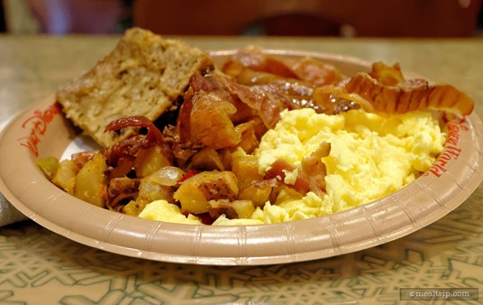 There's a good mix of breakfast items on the Breakfast Platter from Sunshine Seasons.