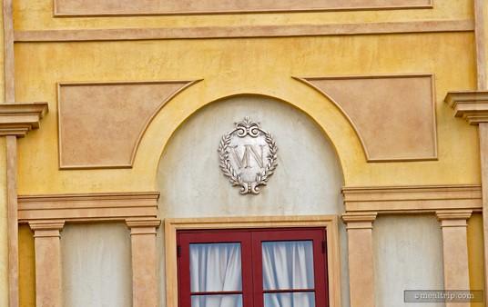 The Via Napoli logo over the entrance of this Ristorante e Pizzeri.