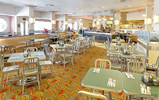Looking across the main dining area during Hollywood and Vine's Play and Dine Breakfast.