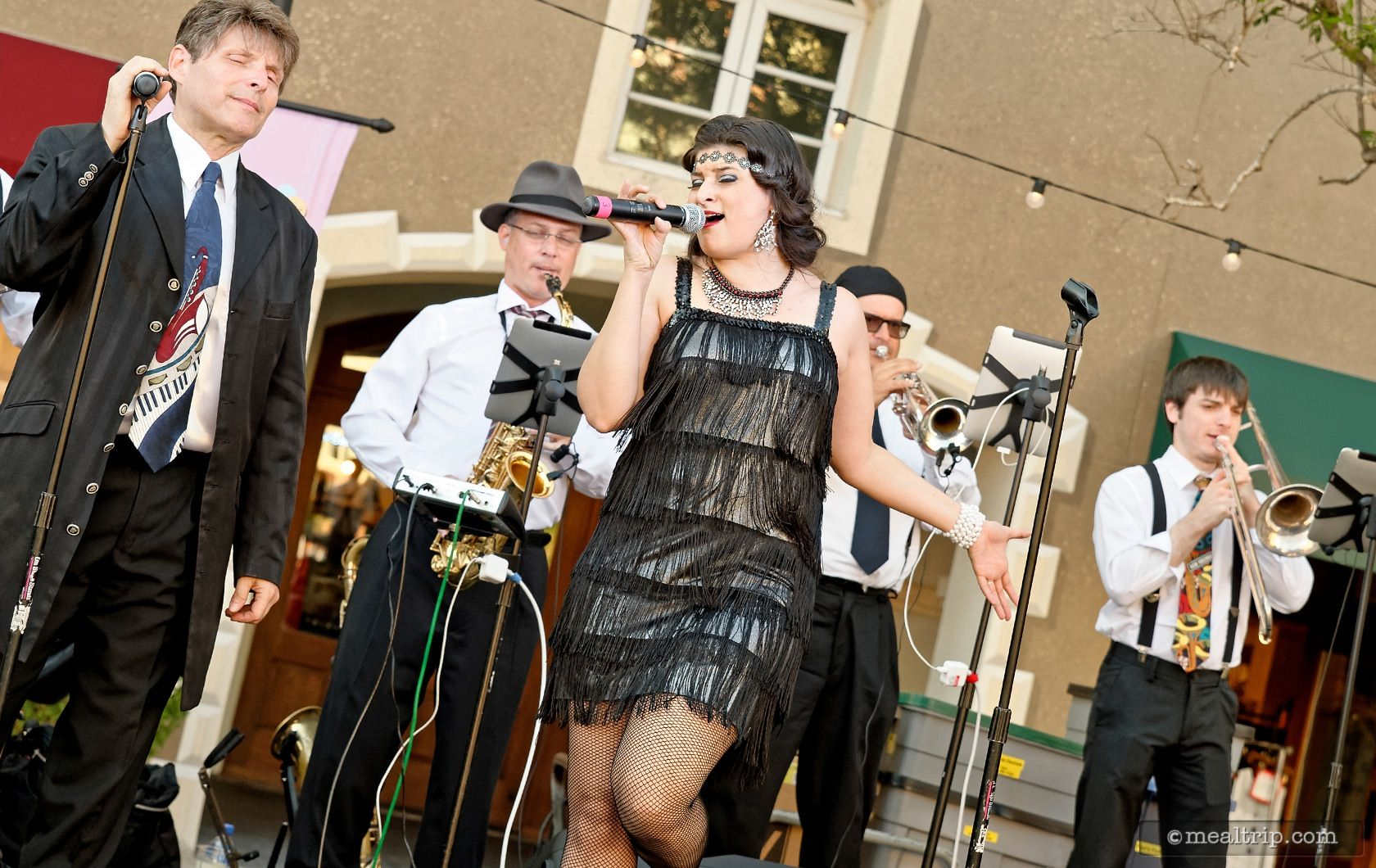 A Harbor Nights Band Performs at the Primavera Event