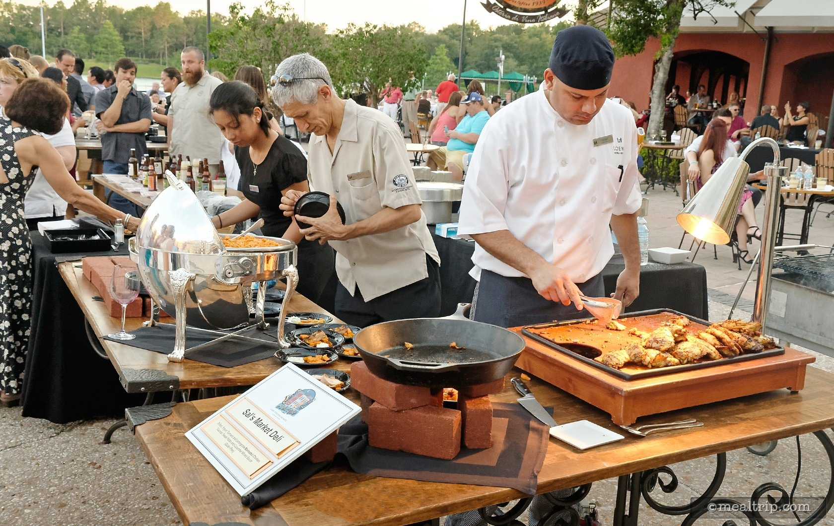 Sal's Deli Cooking Station at a Harbor Nights Event