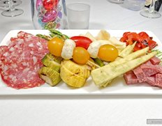 An Antipasto Plate from the VIP Menu