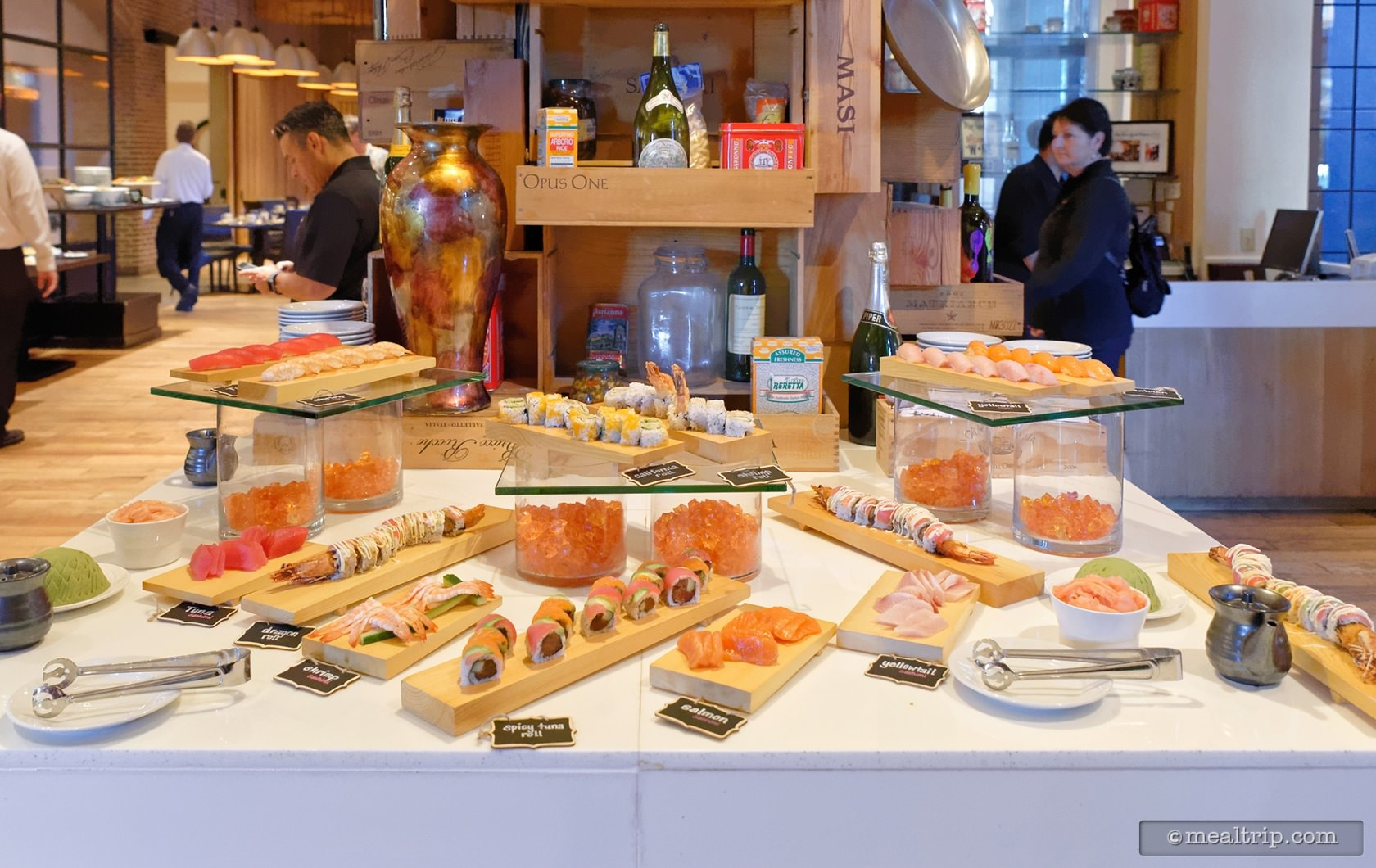 The Sushi Table at Sunday Bubbles Brunch