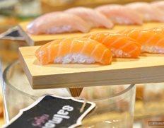 Yellowtail Nigiri And Salmon Sashimi