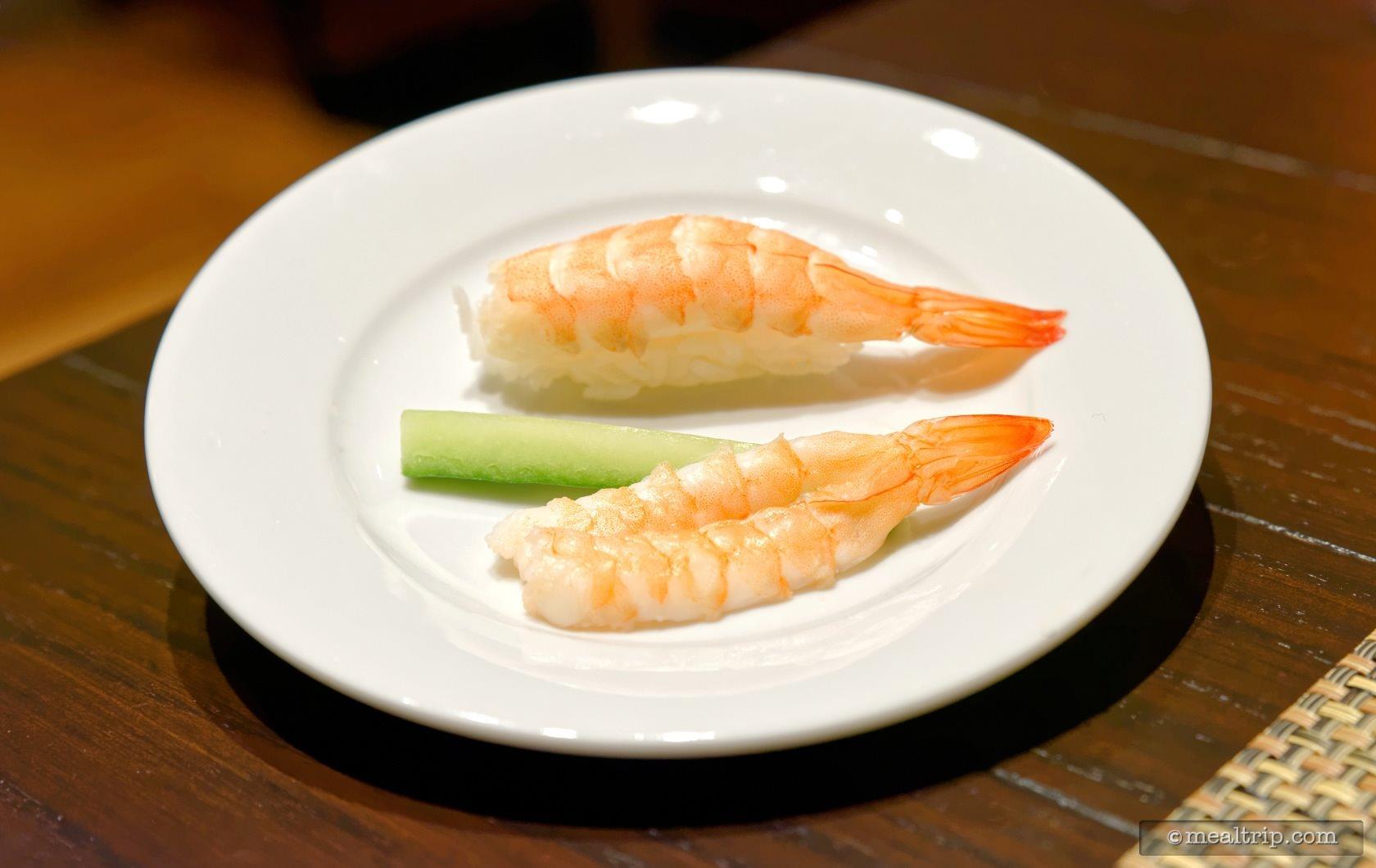 Plated Sashimi and Nigiri