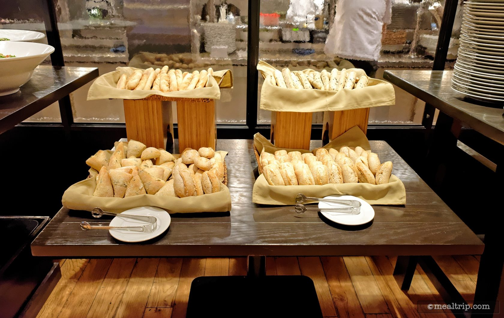 A Bread Station at the Sunday Bubbles Brunch Event