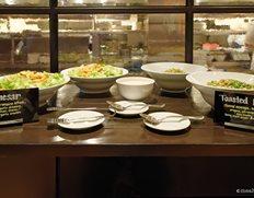 Leafy Salad Table At Bubbles Brunch