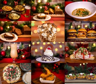 Food & Beverage Items for the 2020 Christmas Celebration at SeaWorld, Orlando (Text List)