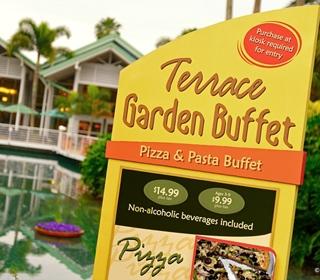 Farewell Terrace Garden Buffet
